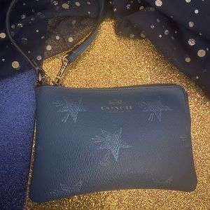 COACH STARRY SAFFIANO Wristlet Wallet WHIMSICAL